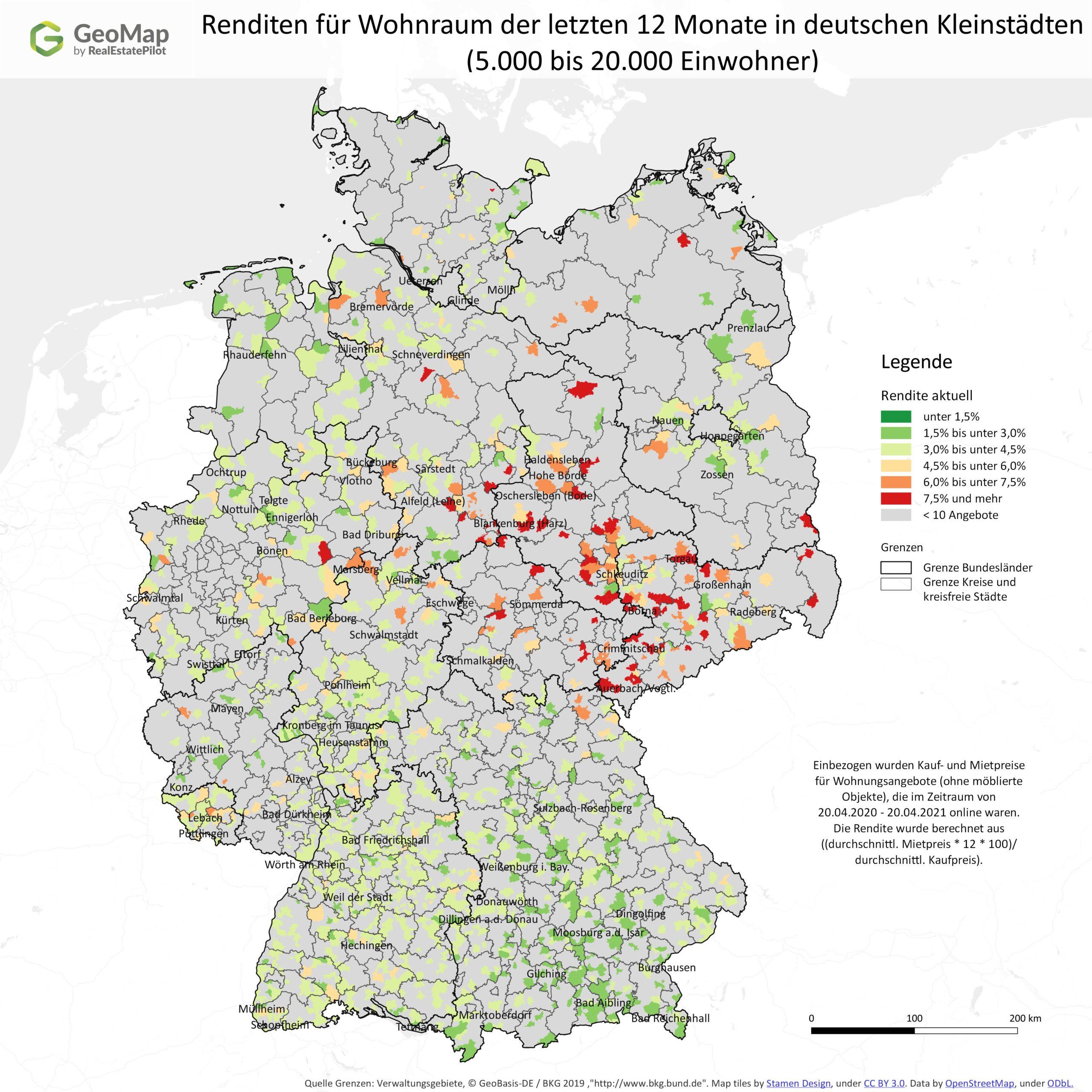 GeoMap-Kleinstädte-Rendite